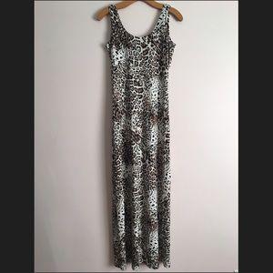 Calvin Klein Leopard Jersey Maxi Dress